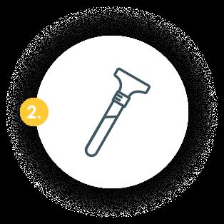 Provide saliva sample for testing
